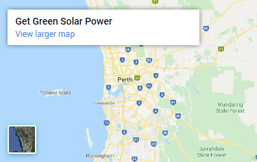 Map of Get Green Solar Power service area